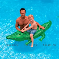 Надувной плотик Крокодил 168х86 см,от 3 лет. INTEX 58546 - фото 5050