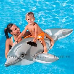 Надувной плотик Дельфин 175х66см, от 3 лет. INTEX 58535 - фото 5052