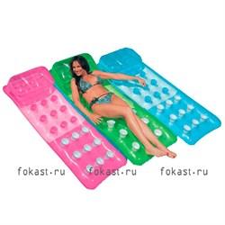Надувной матрас цветной с лунками 188х71 см,  3 цвета. INTEX 58890 - фото 5075