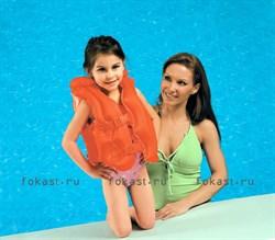 Надувной красный желет, 3-6 лет.INTEX 58671 - фото 5088