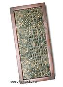 Нарды средние, сувенирные, кожаные, в чехле