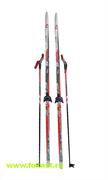 """Комплект лыж на (75мм) """"STEP"""" с насечкой Рост 185"""