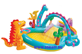Водный игровой центр Intex 57135 (Диноленд) 333х229х112)