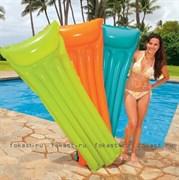 Надувной матрас неоновый с подоголовником 183х76 см, 3 цвета. INTEX 59717