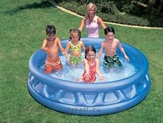 Детский надувной бассейн с рёбрами 188х41см, от 3 лет.INTEX 58431