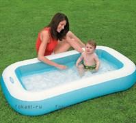 Детский бассейн с надувным дном 166х100х28 см. INTEX 57403