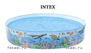 Бассейн жесткий караловый риф 144х46хсм, от 3-х лет. INTEX 58472