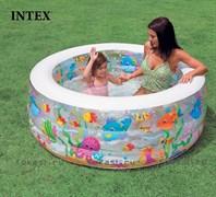 Бассейн аквариум с надувным дном 152х56 см, от 6-и лет. INTEX 58480