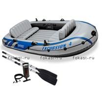 Надувная лодка excursion-4 SET (315X165X43) INTEX 68324