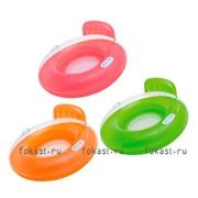 Надувной круг со спинкой 102 см, 3 цвета. INTEX 56512