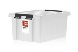 "Ящик пластиковый с крышкой ""RoxBox"" 16 л, прозрачный 400х300х190см"