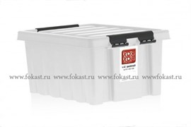 "Ящик пластиковый с крышкой ""RoxBox"" 2,5 л, прозрачный 210х170х105см"