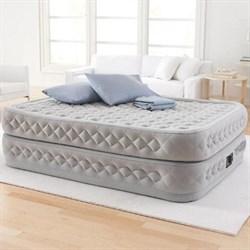 Надувная кровать двуспальная со встр. насосом 220В Intex 64464 (152х203х51) - фото 10324