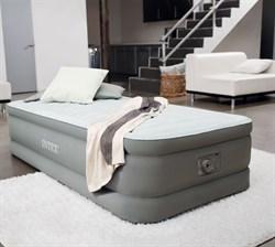 Надувная кровать Intex 64482 со встр. насосом 220V (99х191х46) - фото 10325