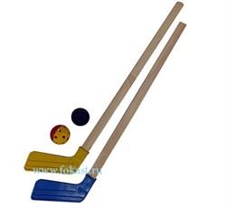 Хоккейный набор (2 клюшки + шайба + мячик) арт. 05-04 - фото 10355