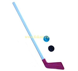Клюшка детская хоккейная 80 см +2 шайбы КХ-1-55 - фото 10359