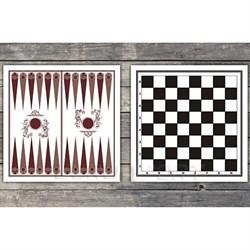 Доска картонная двухстороняя: шахматы, шашки, нарды - фото 10471