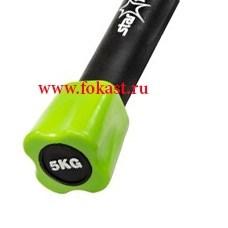 Бодибар неопреновый STARFIT BB-301 5 кг, зеленый - фото 10512