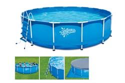 Каркасный бассейн SummerEscapes P20-1548-Z + лестница, тент, подстилка (457х122см) - фото 10552