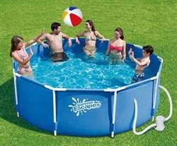 Каркасный бассейн SummerEscapes P20-1042-A + фильтр-насос (305х107см ) - фото 10554