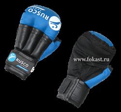Перчатки для рукопашного боя, к/з, синие - фото 10645