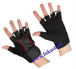 Перчатки атлетические STARFIT SU-120, чёрные - фото 11774