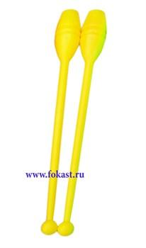 Булавы для художественной гимнастики У714, 35 см, желтые - фото 11779