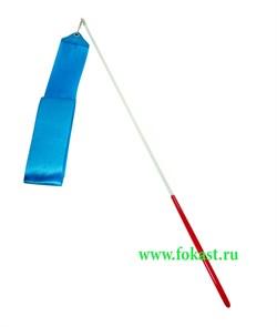 Лента для художественной гимнастики RGR-201 4м, с палочкой 46 см, голубая - фото 11793