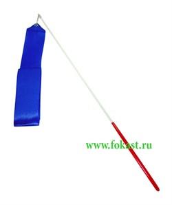 Лента для художественной гимнастики гимнастики AGR-201 4м, с палочкой 46 см, синяя - фото 11801