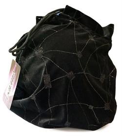 Чехол для мяча для художественной гимнастики, бархат, черный - фото 11921