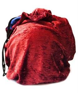 Чехол для мяча для художественной гимнастики, бархат, красный - фото 11923