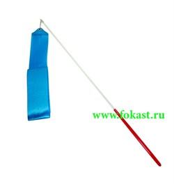 Лента для художественной гимнастикиAGR-201 6м, с палочкой 56 см, голубая - фото 12027