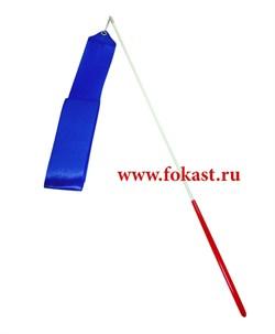 Лента для художественной гимнастики AGR-201 6м, с палочкой 56 см, синяя  - фото 12028