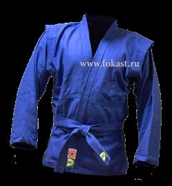 Куртка для самбо Green Hill JS-303, синяя - фото 12093