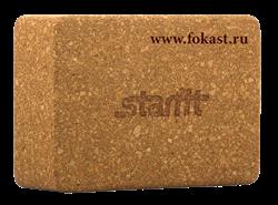 Блок для йоги STARFIT FA-102, пробка - фото 12354