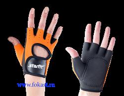 Перчатки для фитнеса STARFIT SU-107, оранжевый/черный - фото 12616