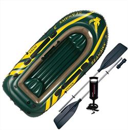 Лодка надувная Seahawk 300 Intex 68380 + весла и насос - фото 12654