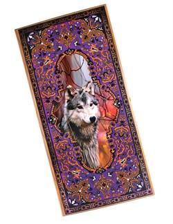 Нарды средние, с деревянными шашками, дубовые, цветной рисунок - фото 12663