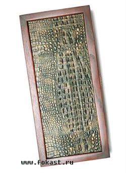 Нарды средние, сувенирные, кожаные, в чехле - фото 12667