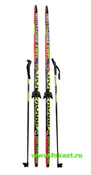 """Комплект лыж на (75мм) """"STEP"""" с насечкой Рост 175 - фото 12750"""