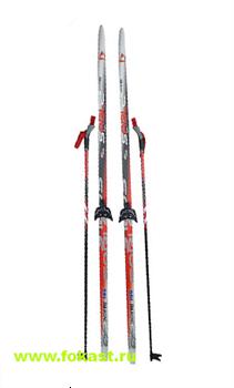 """Комплект лыж на (75мм) """"STEP"""" с насечкой Рост 185 - фото 12752"""