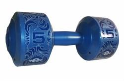 Гантель (корпус пластик) 5кг/шт, синий - фото 13810