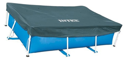 Тент для прямоугольного каркасного бассейна (389х184см)  Intex 28037 - фото 13901