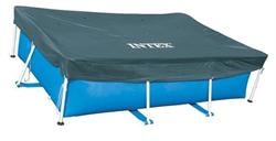 Тент для прямоугольного каркасного бассейна Intex 28039 (460х226 см) - фото 13902