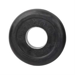 Диск обрезиненный черный d-51mm 1,25кг с мет. втулкой RJ1050 - фото 13968