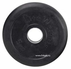 диск обрезиненный черный d-51mm 5кг с мет. втулкой rj1050 - фото 13970