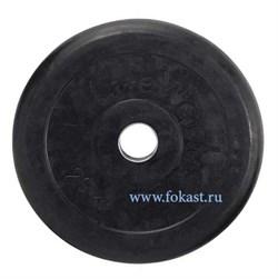 Диск обрезиненный черный d-51mm 20кг с мет. втулкой RJ1050  - фото 13974