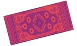 Коврик для йоги и фитнеса 183*61*0,3 см 5430LW, оранж./фиолетовый - фото 13980