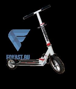 Самокат BIBITU CROSS  SKL-037-AWS, надувные колеса, белый - фото 14107