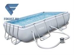 Прямоугольный каркасный бассейн Bestway 56629 + фильтр насос (282х196х84м) - фото 15299